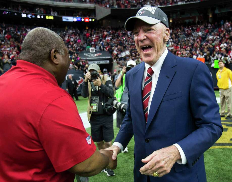 Texans owner Bob McNair has been able to celebrate four AFC South division championships in the past six seasons, but his team still hasn't made it to a conference championship game. No Houston NFL team has since the 1979 Oilers. Photo: Brett Coomer, Staff / © 2016 Houston Chronicle