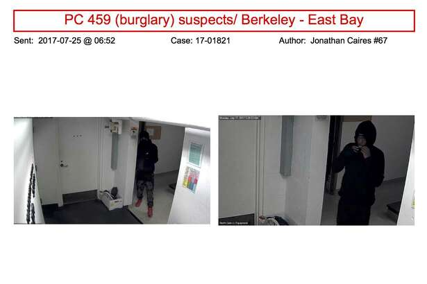 The graduate school of journalism was asked to circulate this flyer depicting two suspects in a late-night break-in at the school.
