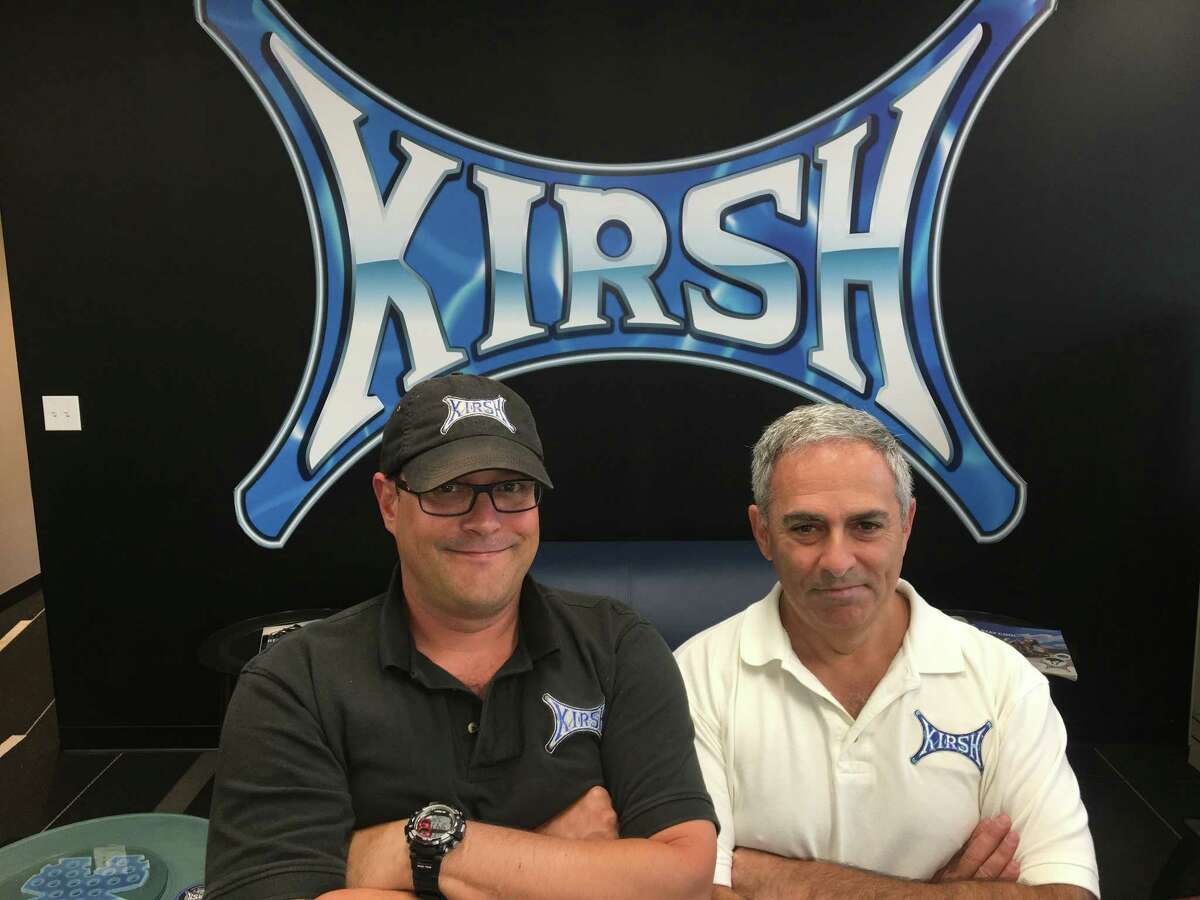 Kirsh Helmets CEO, left, with president and chief operating officer Don DeVito, right.