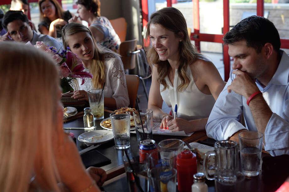 Young adults enjoy trivia night July 25, 2017, at Basin Burger. James Durbin/Reporter-Telegram Photo: James Durbin