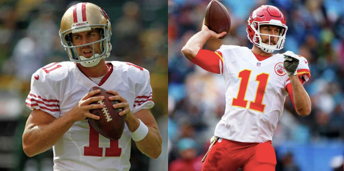 Where are the Jim Harbaugh-era 49ers now? Alex Smith: Kansas City Chiefs Smith was traded to the Chiefs in 2013 and is entering his fifth year as the starter in Kansas City. Since joining the Chiefs, Smith has thrown for 76 touchdown passes and played in four playoff games.