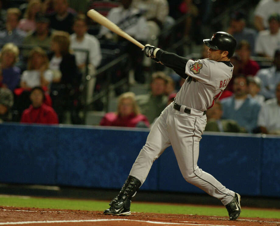 In his 2004 stint with the Astros, Carlos Beltran put on a historic postseason showing that helped the team make it to within a victory of the World Series. Photo: KAREN WARREN, HC Staff / Houston Chronicle