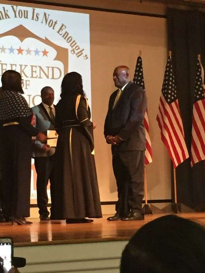 Conroe native Earl Thompson received the Presidential Lifetime Achievement Award on July 9 in Dallas. Photo: Photo Provided