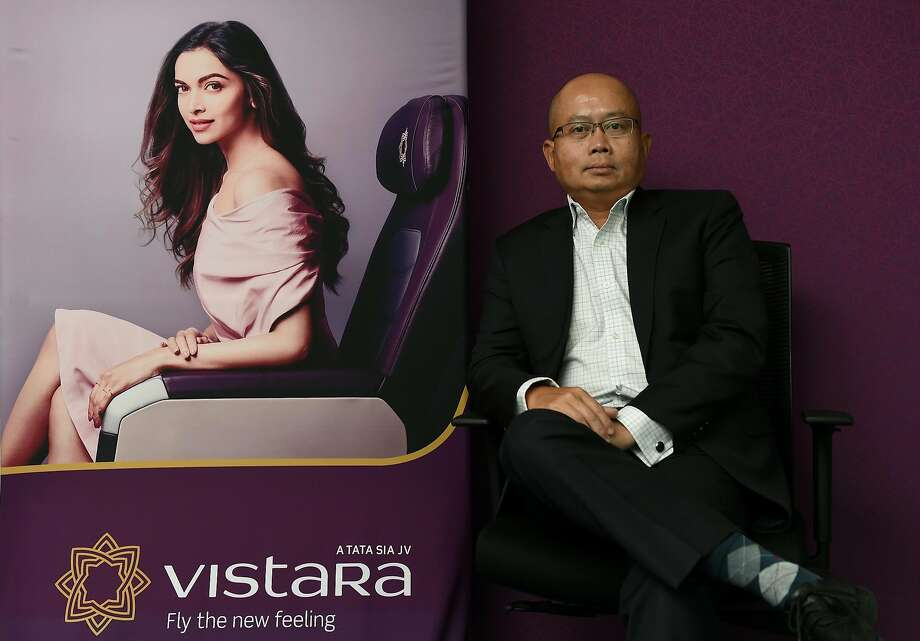 This photograph taken on September 13, 2016, shows Phee Teik Yeoh, chief executive officer of Indian domestic airline Vistara, posing at the Vistara office in Gurgaon, some 35km southwest of New Delhi. The boss of India's newest airline Vistara has urged the government to scrap a rule that restricts carriers in the country's cut-throat aviation sector from expanding their operations abroad. / AFP / PRAKASH SINGH (Photo credit should read PRAKASH SINGH/AFP/Getty Images) Photo: PRAKASH SINGH, AFP/Getty Images