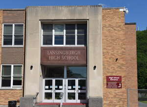 Exterior of Lansingburgh High School on Wednesday afternoon, June 7, 2017, in Troy, N.Y. (Will Waldron/Times Union)