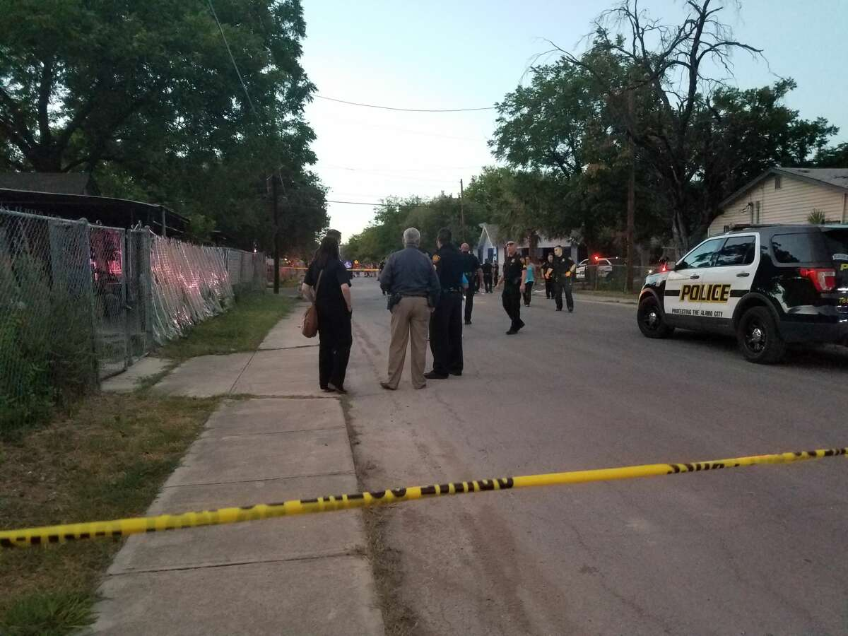 A 21-year-old man was shot in the head Wednesday, July 26, 2017 after an argument between families near the corner of El Paso and SW 21st streets.