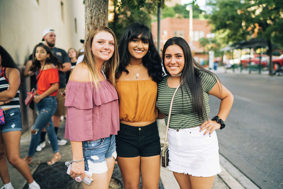 A crowd gathered to see Khalid Wednesday July 26, 2017 at the Aztec in San Antonio.