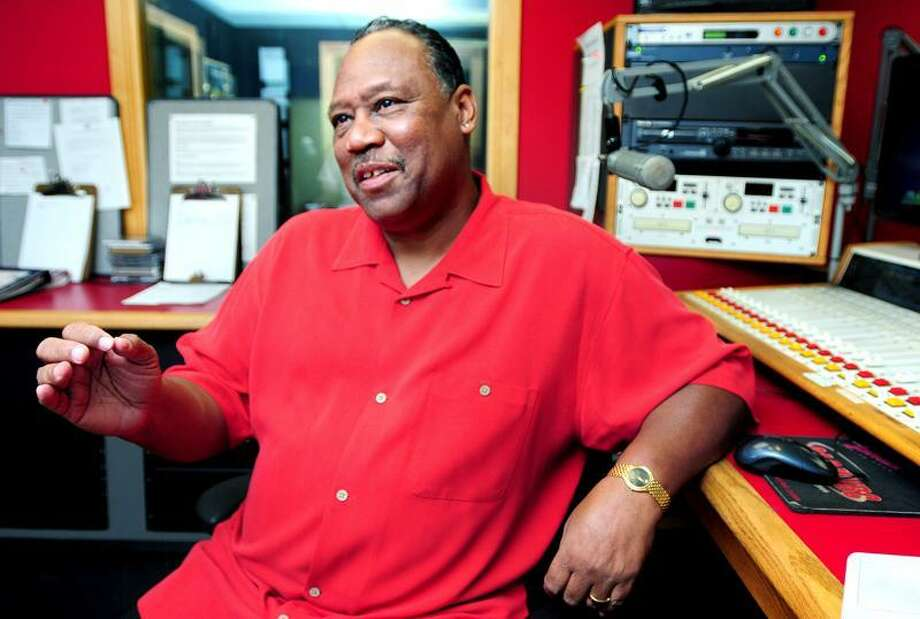 WYBC Director of Urban Programming Juan Castillo is photographed Aug. 1 at the radio station in New Haven. Photo by Arnold Gold/New Haven Register