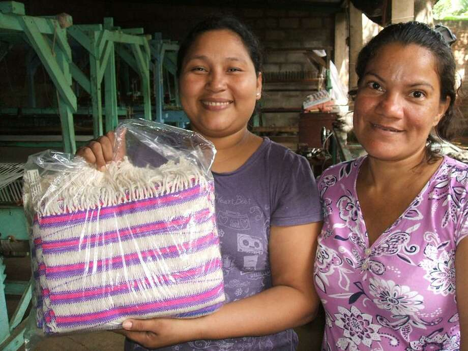 New Haven/Leon Sister City Project photo: Handiwork by Nicaraguan weavers will be sold at the Holiday Fiesta and Fair Trade Gift Bazaar Saturday.
