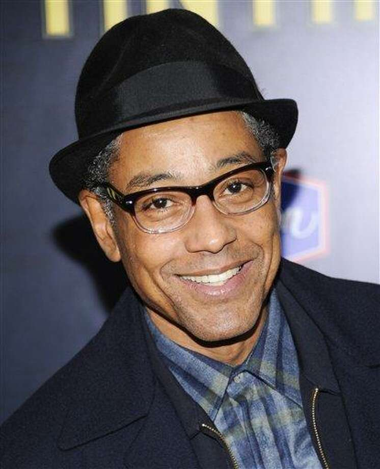 """In this file photo, actor Giancarlo Esposito attends the premiere of """"The Adventures of Tintin"""" at the Ziegfeld Theatre in New York. Esposito, Bob Dishy, Zach Grenier, Ron Cephas Jones and Tonya Pinkins will star in """"Storefront Church,"""" the final piece in John Patrick Shanley's """"Church and State"""" trilogy of plays. Previews begin on May 16 off-Broadway. (AP Photo/Evan Agostini, file) Photo: AP / AP2011"""
