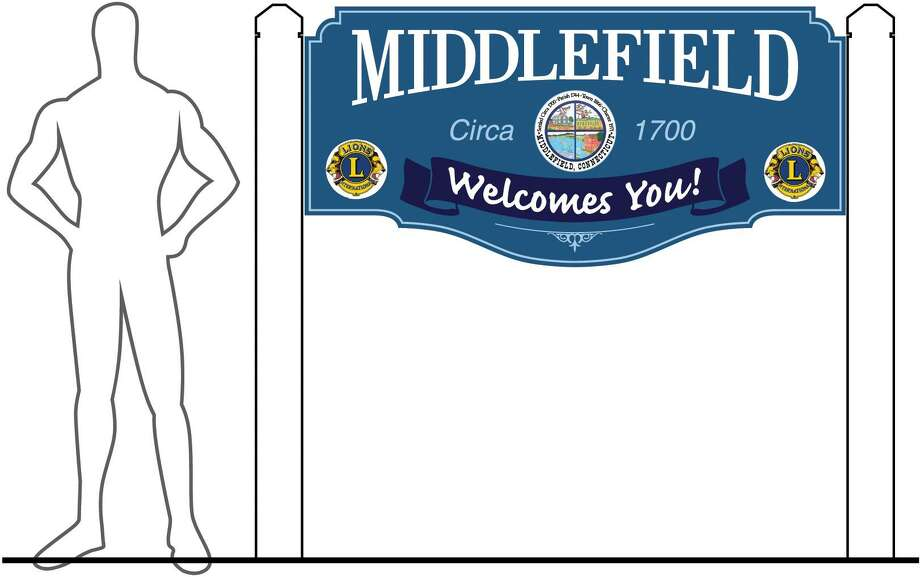 A rendering of a proposed sign in Middlefield