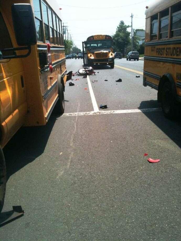 Scene of crash. Ann DeMatteo/Register