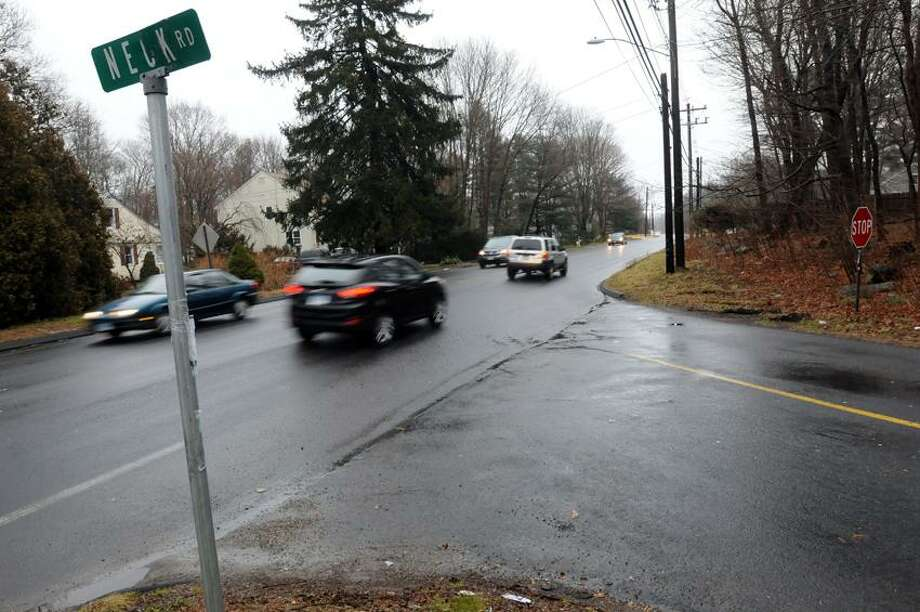 The intersection of Neck Road and the Boston Post Road in Madison where Colleen Kelly Alexander of Clinton on her bicycle was hit by a truck. Mara Lavitt/Register