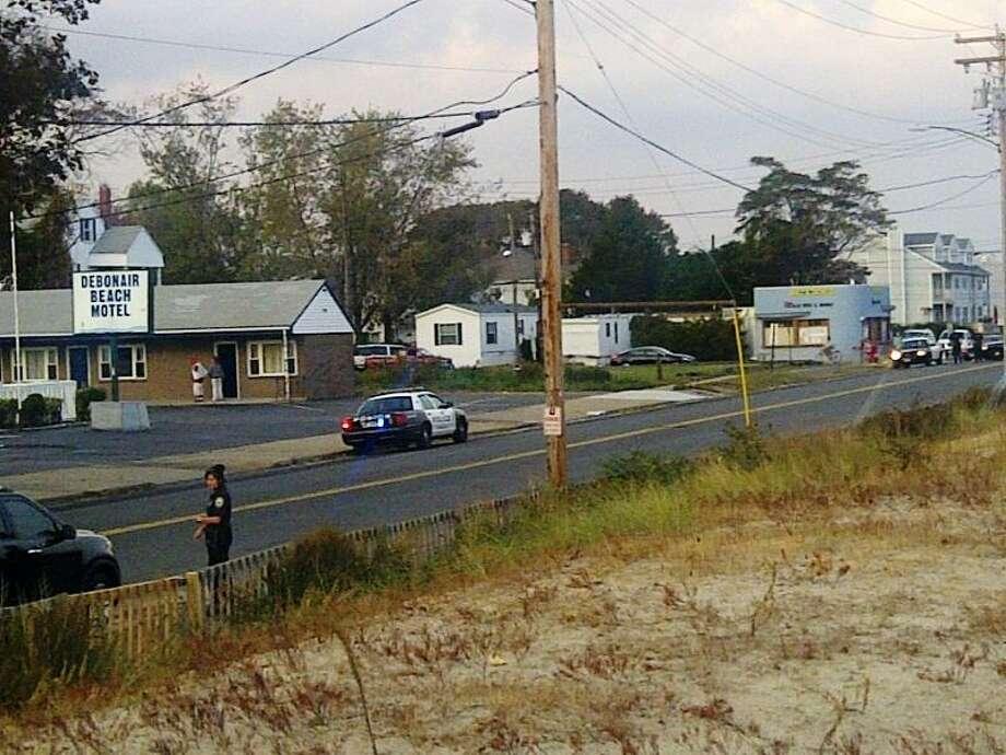 The scene outside the Debonair Beach Motel. Christine Tansey/Register