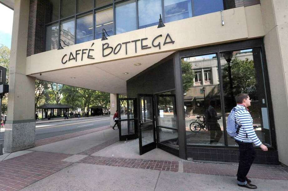 Future home of Chipotle Restaurant at the former Cafe Bottega space on Chapel Street in New Haven. VM Williams/Register