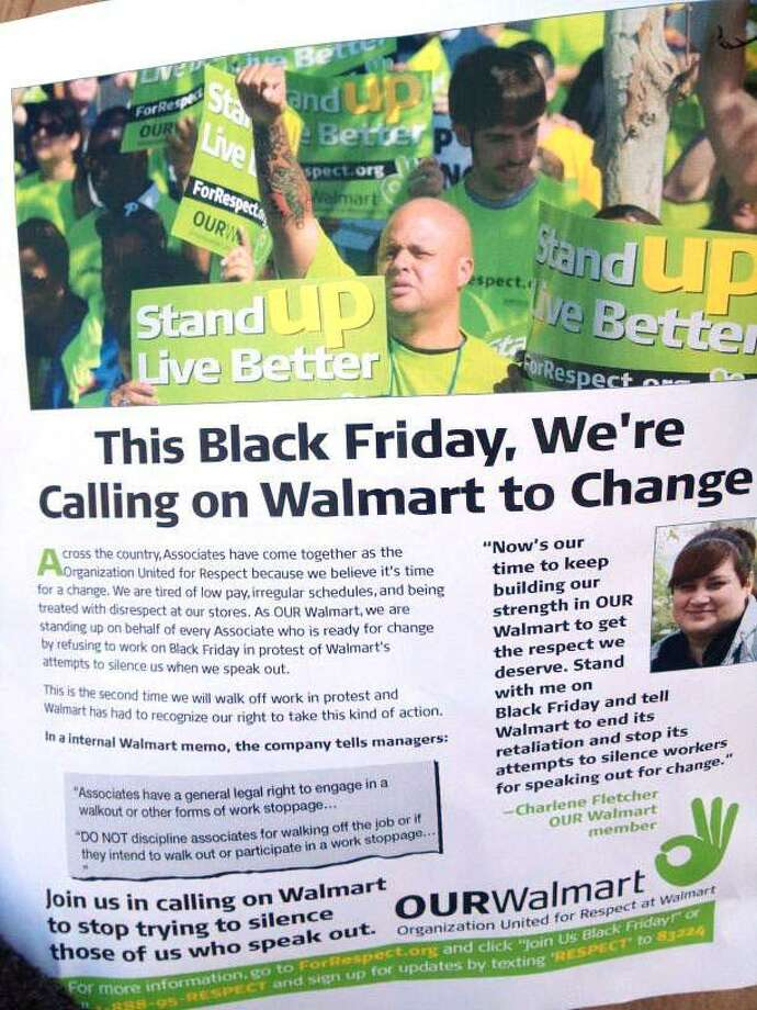 This is what the health care workers are passing out Friday at the Walmart in Milford. Susan Misur/Register