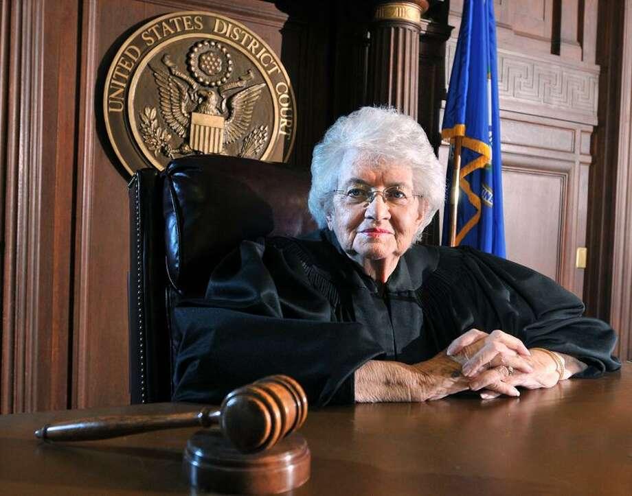 U.S. District Court Judge Ellen Bree Burns in her courtroom. Peter Casolino/New Haven Register