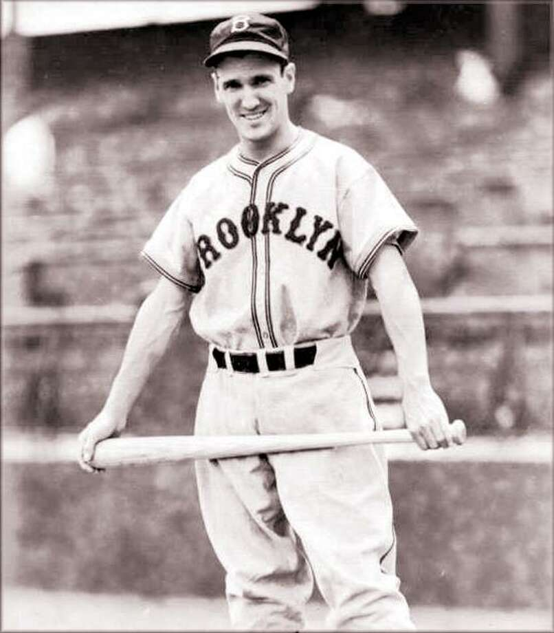 Hamden native Eddie Wilson with the Brooklyn Dodgers.(Submitted photo)