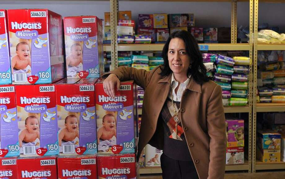 Janet Alfano, new director of the Diaper Bank in North Haven. Peter Casolino/Register