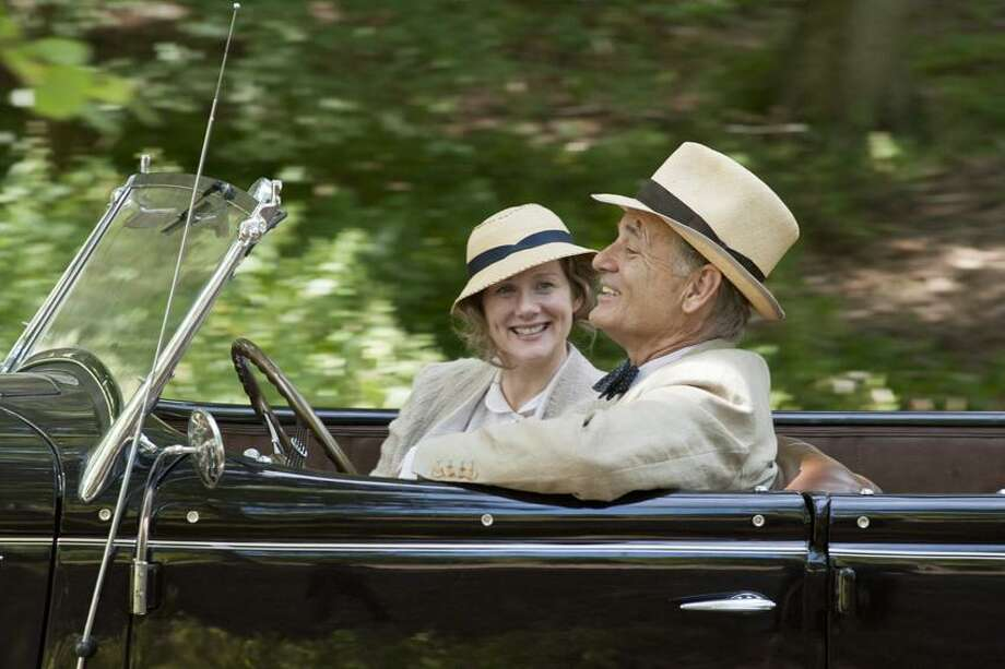 "Focus Features photo: ""Hyde Park on Hudson"" stars Laura Linney and Bll Murray as Franklin Delano Roosevelt, with Branford's Liz Wilson as his mother. The film opens in December. / ©Focus Features"