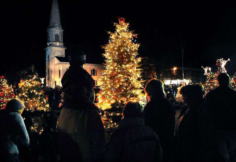 Peter Casolino/Register file: The West Haven Green was aglow in light and holiday spirit at a tree-lighting ceremony a few years back.