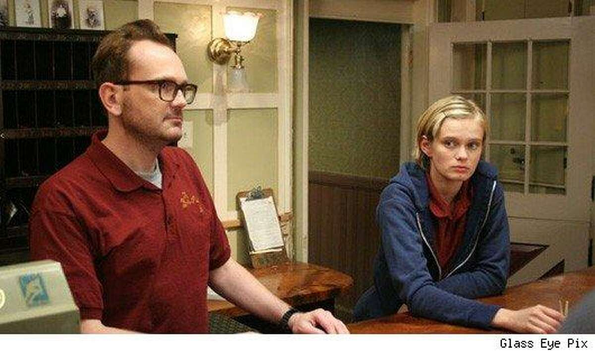 Contributed photo A scene from 'Innkeepers' featuring Pat Healy and Sarah Paxton.