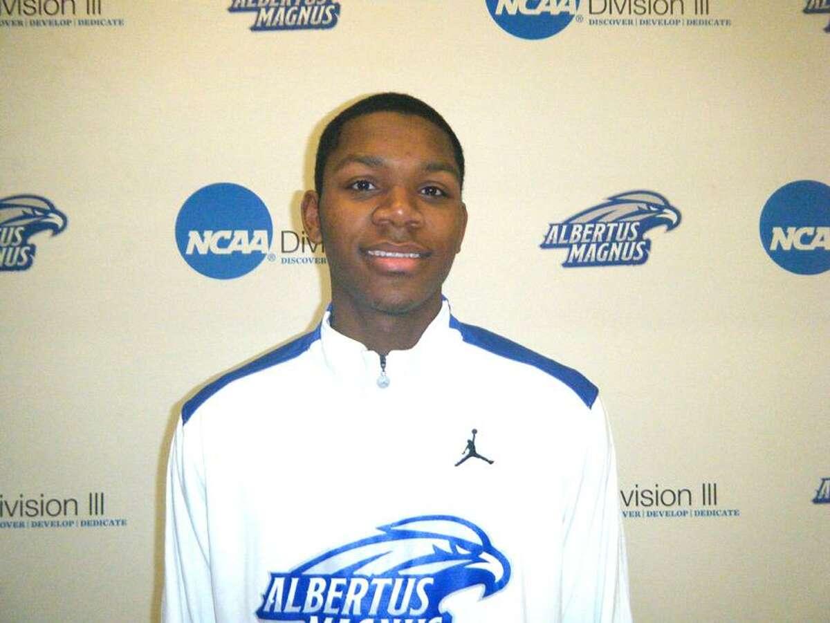 Albertus Magnus basketball player Ray Askew. (Photo courtesy of AMC Athletics)