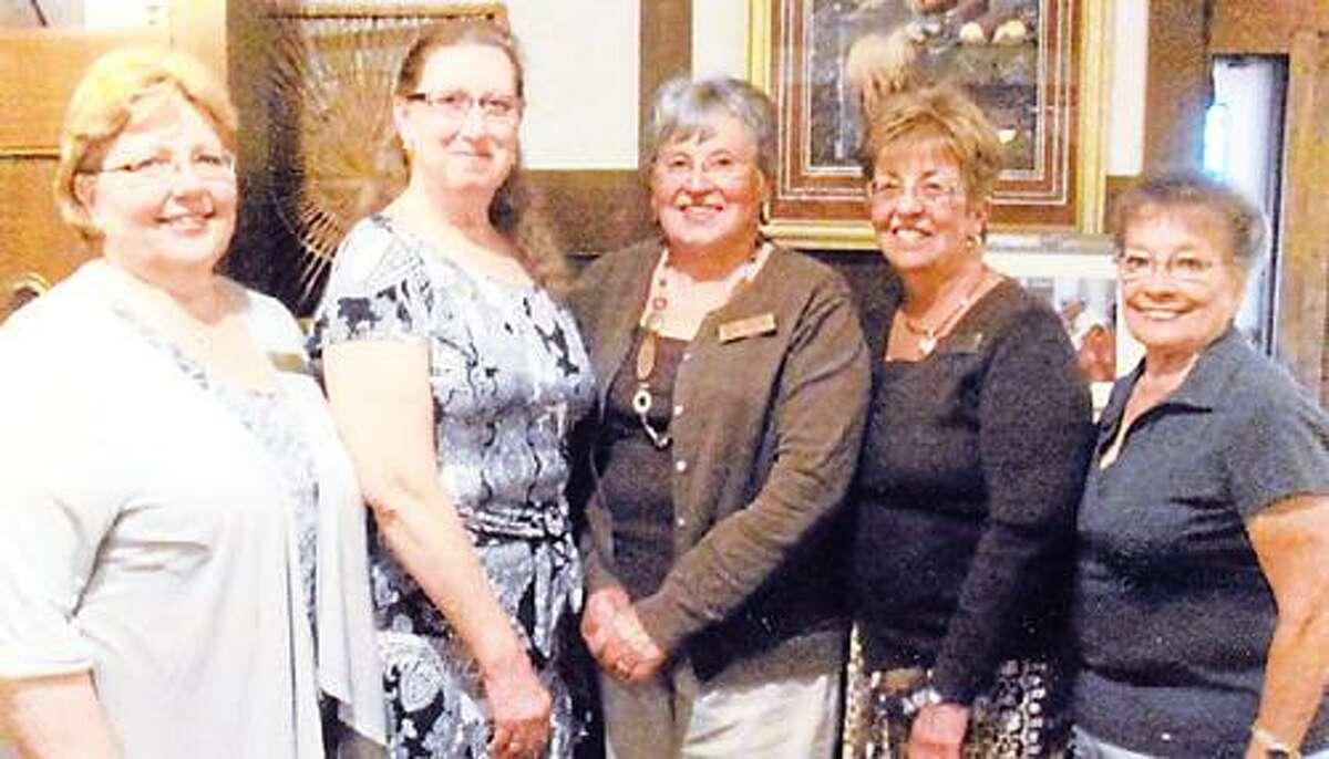 Photo Courtesy ONEIDA ZONTA CLUB From left, Karen Puglisi, recording secretary; Laura DuChene, president; Annette Maguire, vice president; Gail Strong, treasurer, and Sandy Finley, corresponding secretary.