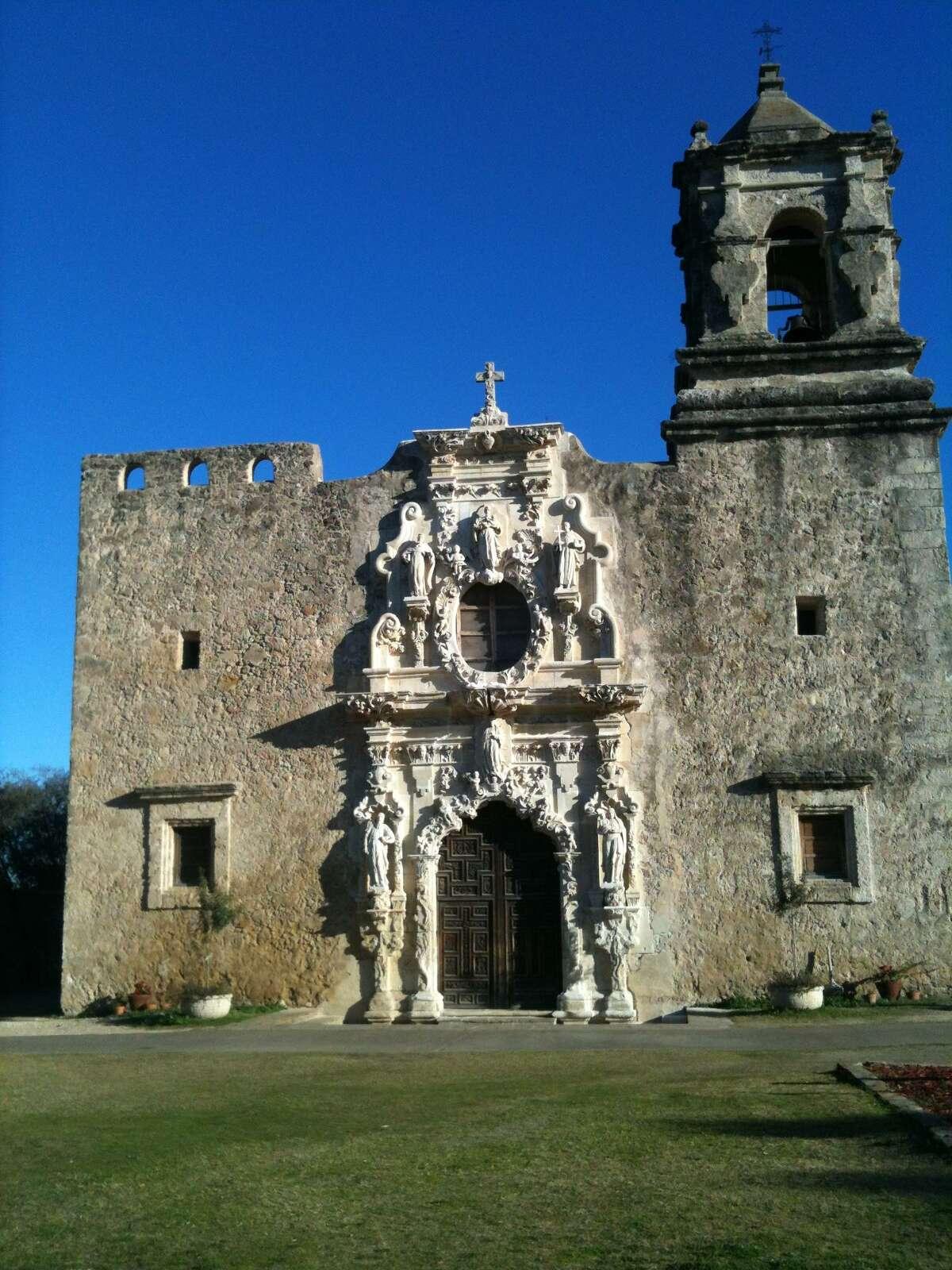 The San Jose Mission in San Jose, Texas.