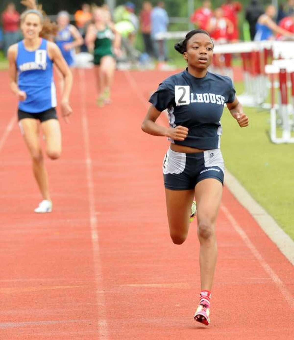 SCC Track championships, Sheehan H.S. Wallingford: Hillhouse's Kellie Davis won the 1600m in 5:07.33. Mara Lavitt/New Haven Register5/21/12
