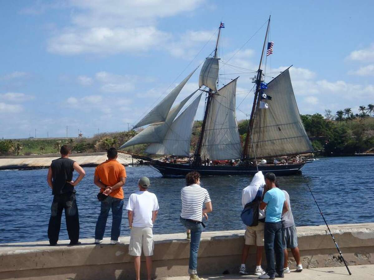 Contributed photo: The schooner Amistad, shown here on its 2010 Cuban voyage, will be open for tours Saturday.