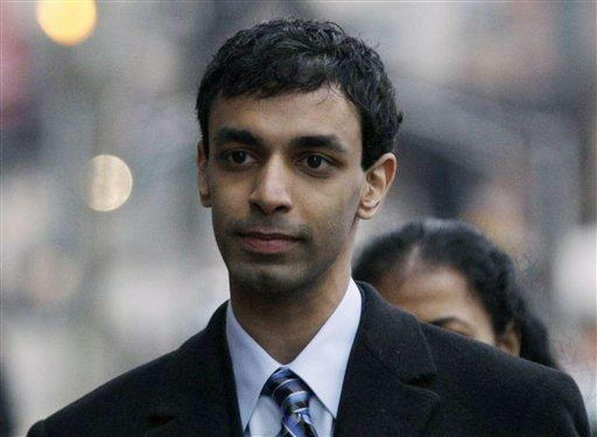 Former Rutgers University student, Dharun Ravi, arrives Feb. 24 at his trial in New Brunswick, N.J. Associated Press file photo