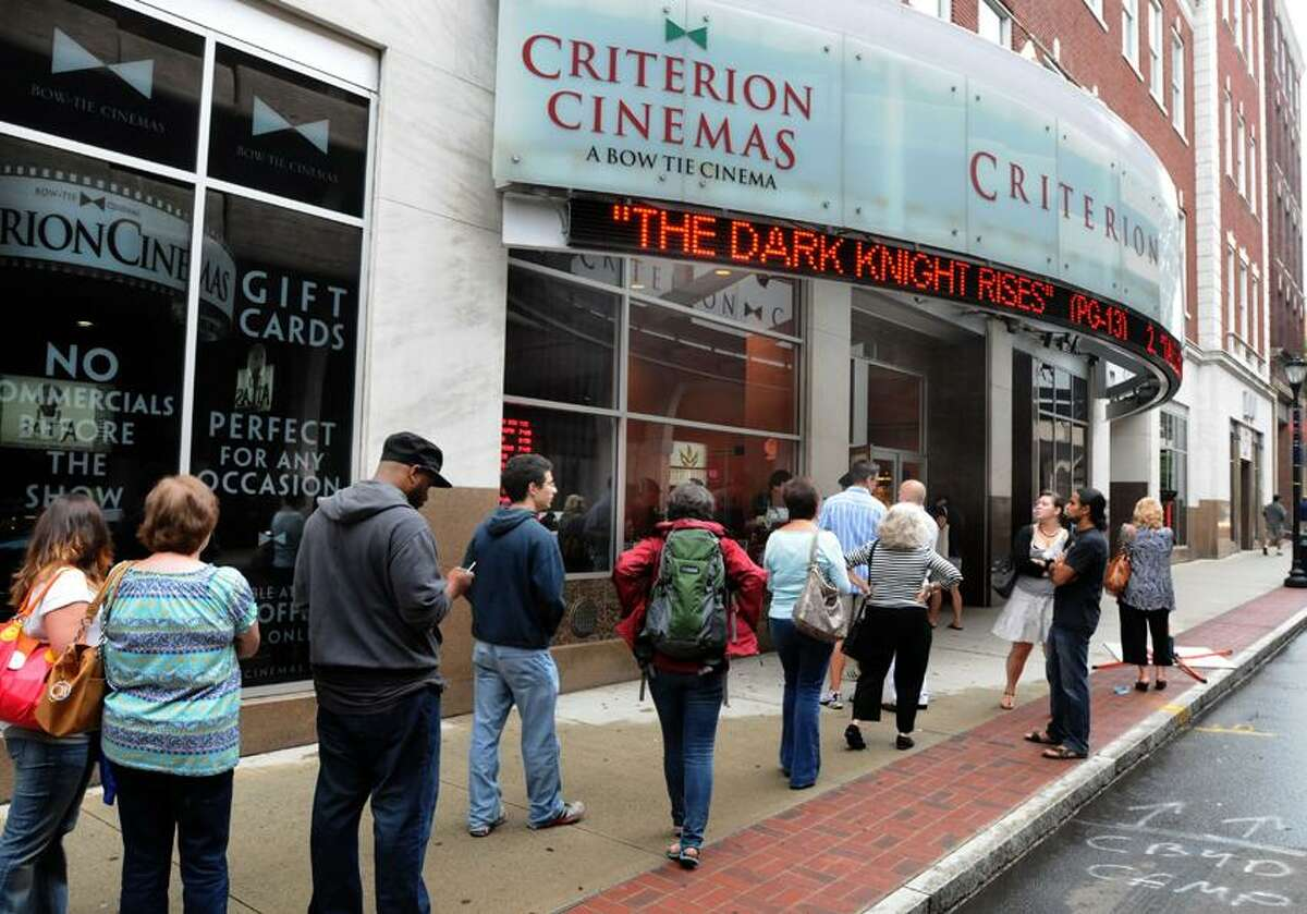 The Criterion Cinemas in New Haven are showing The Dark Knight. Mara Lavitt/New Haven Register7/20/12