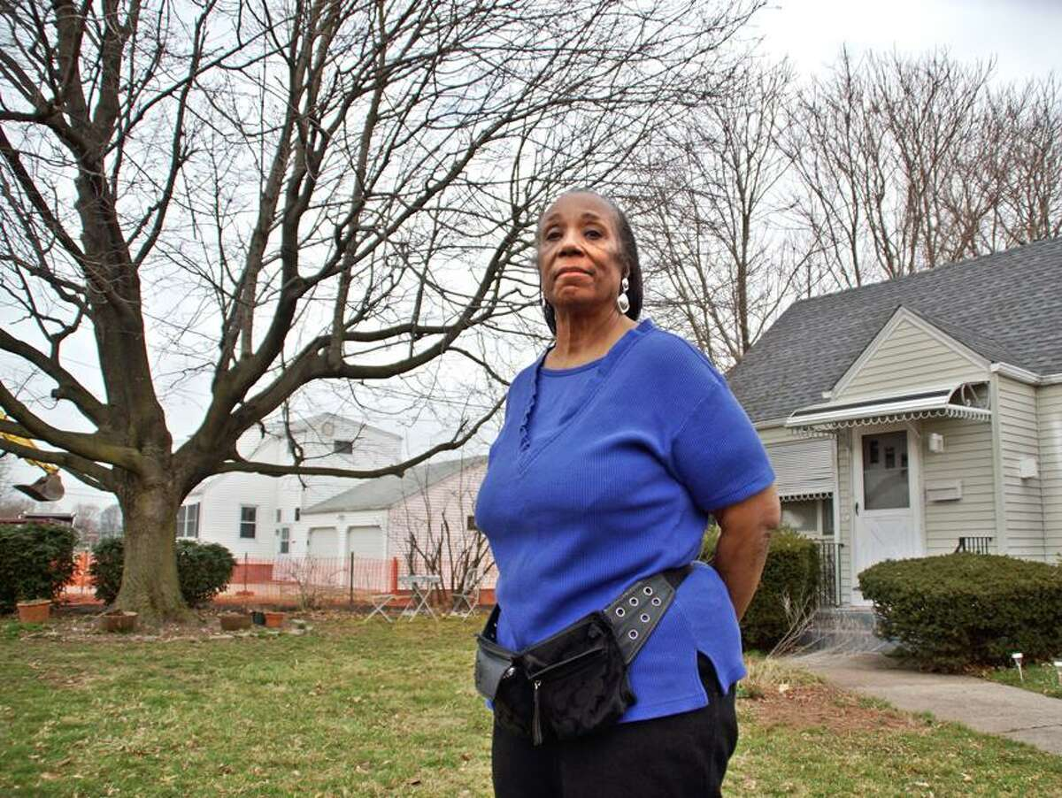 Priscilla Taylor, the homeowner at 131 Bryden Terrace in Hamden, will not take part in the federal ground remediation going on in her neighborhood because she doesn't want her trees cut down Peter Casolino/Register