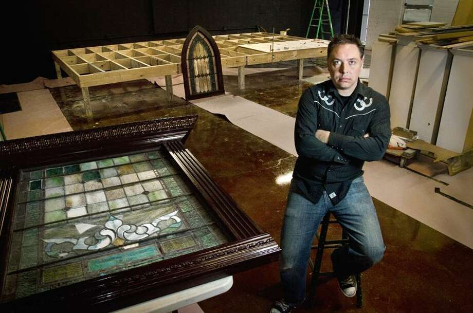 Steve Rogers, of The Space and The Outer Space, in the new venue he hopes to open soon. The property is adjacent to The Outer Space.    Melanie Stengel/Register