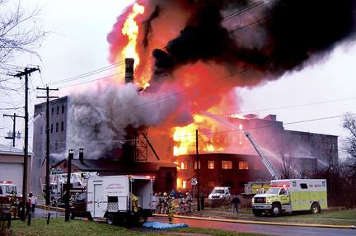Dispatch Staff Photo by KURT WANFRIED The Stanton Paper Box Factory fire in November of 2006.
