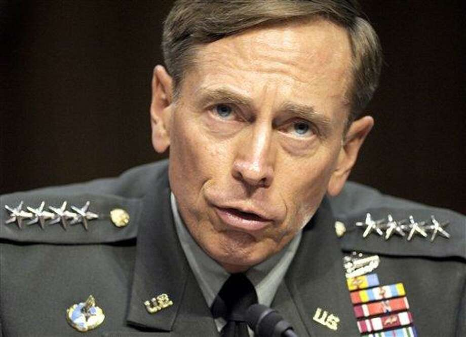 In this June 2011 file photo, then-CIA Director-desigate Gen. David Petraeus testifies on Capitol Hill in Washington. Petraeus has resigned because of an extramarital affair. Associated Press Photo: ASSOCIATED PRESS / AP2011