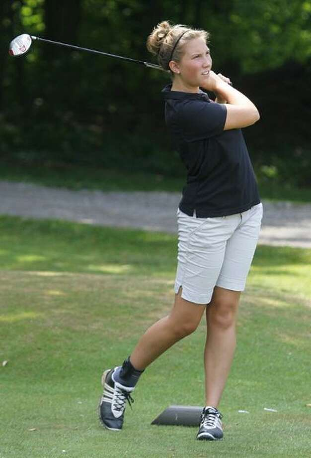 Dispatch Staff Photo by JOHN HAEGER (Twitter.com/OneidaPhoto)Amanda Snizek watches her tee shot on the sixth hole during the Mohawk Valley Junior Golf Tour match at Stonebridge Golf and Country Club on Tuesday, July 17, 2012.