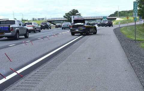 Driver ticketed after tanker spill that closed Northway exit in