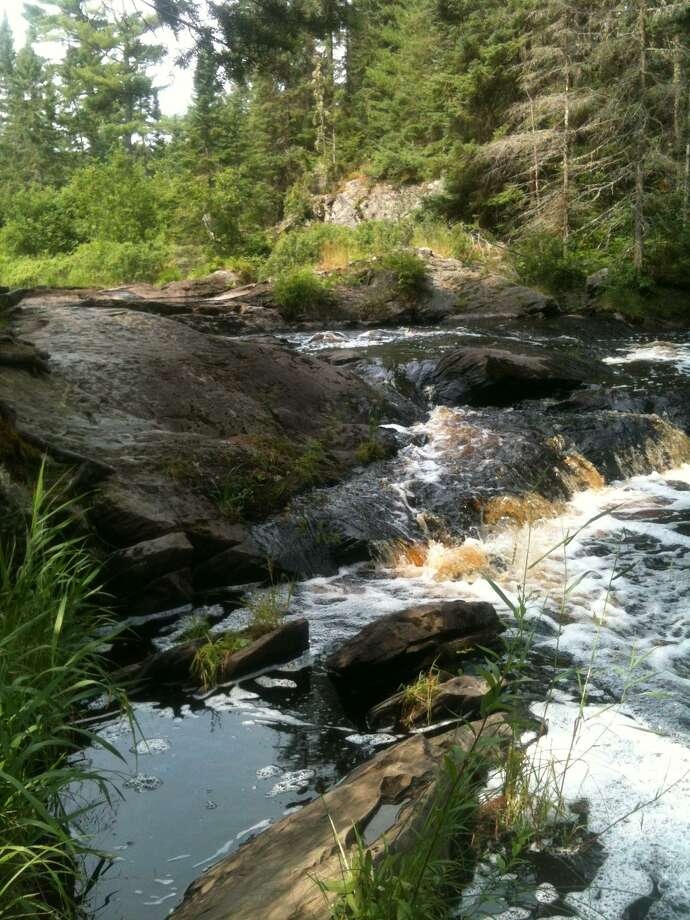 The waterfalls at Tioga Creek, Michigan.