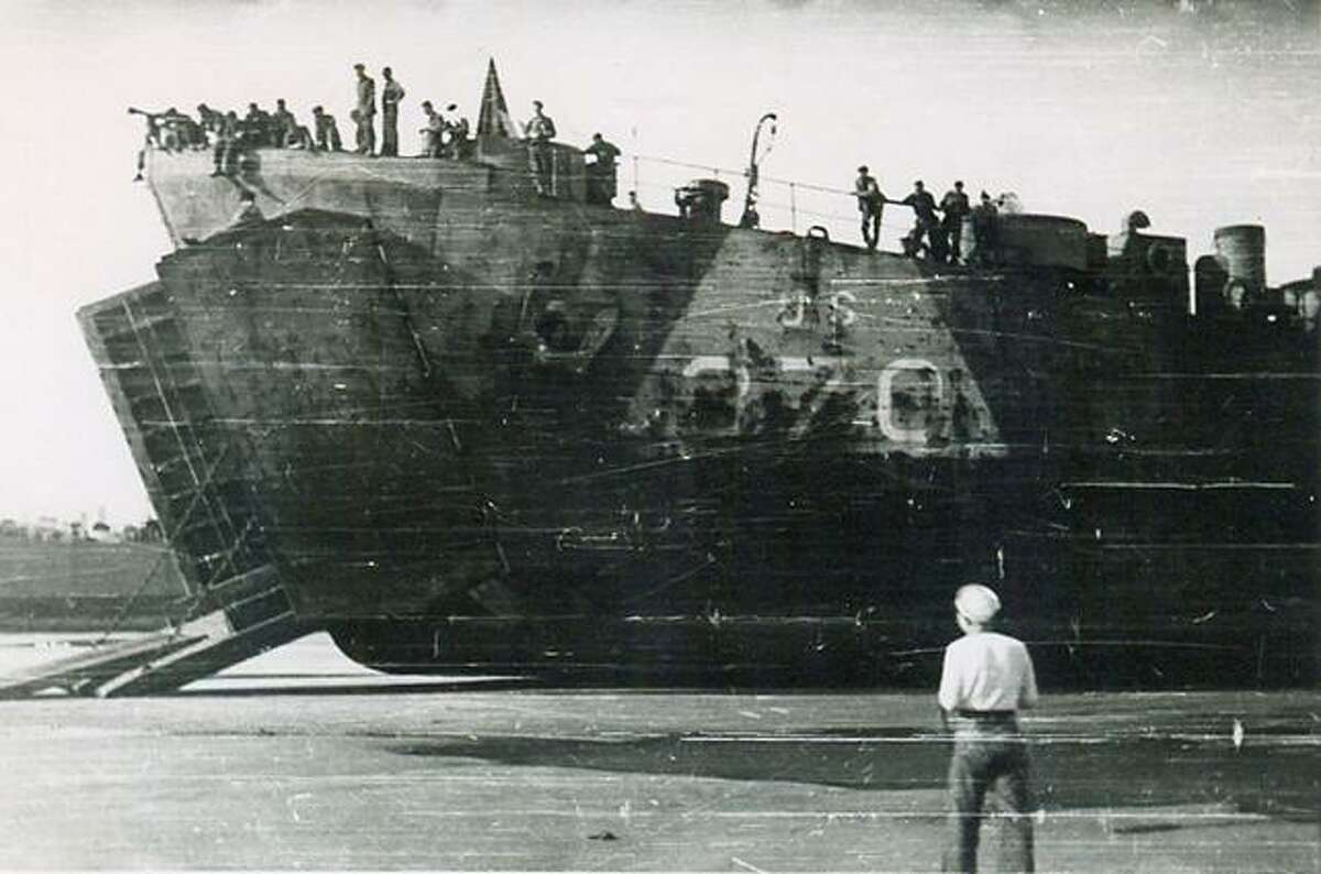 Photo courtesy of George Coleman A tank transport ship, used to unload tanks onto the beaches in Europe during the war. George Coleman was assigned to a Landing Ship Tank (LST) for the Invastion of Normandy.