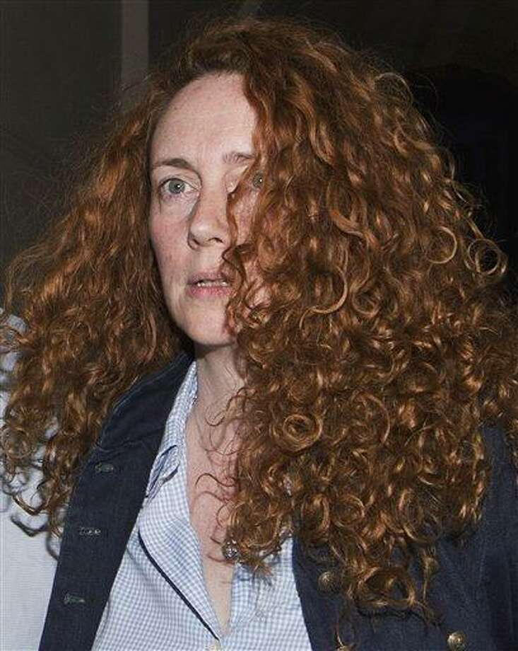 Former chief executive of News International, Rebekah Brooks leaves a hotel in July 2011 in central London. British police made six arrests early Tuesday in the British media's phone hacking scandal, including Rebekah Brooks, the former top executive of Rupert Murdoch's News International, The Associated Press has learned. Associated Press Photo: AP / AP