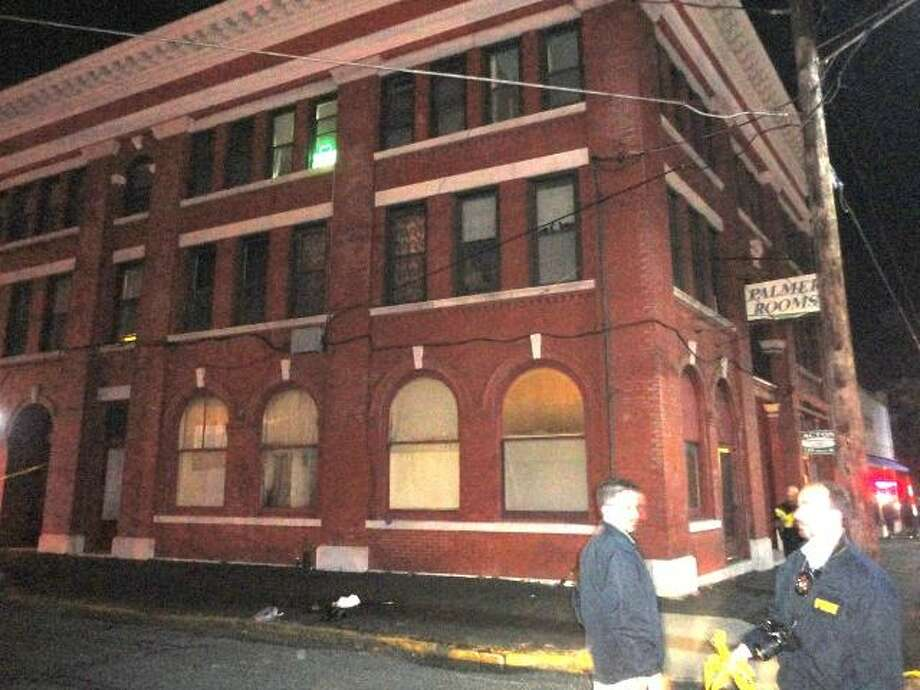 JASON SIEDZIK/ Register Citizen Torrington police were investigating the untimely death of an unidentified man at the Palmer Rooms Tuesday night.