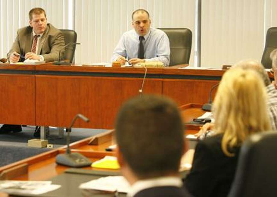 Photo by JOHN HAEGER (Twitter.com/OneidaPhoto) The Madison County Board of Supervisors meets with non-profit agencies on Tuesday, March 13, 2012 in Wampsville to talk about demanding mandate relief from the state.