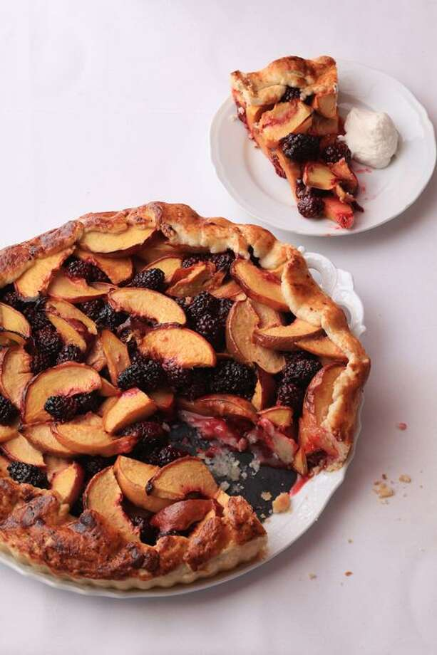 Quentin Bacon photo: Peach and Blackberry Crostata Photo: Quentin Bacon
