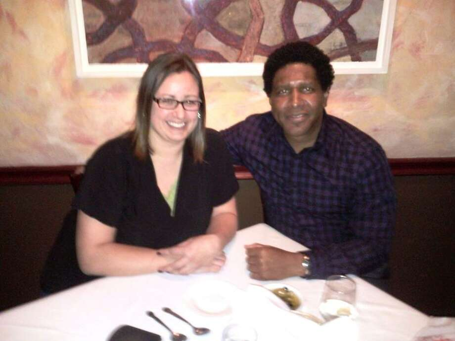 Contributed photo: Tracey Hall of Wallingford and Gerald Clark of East Hartford enjoyed dinner at Christopher Martins.