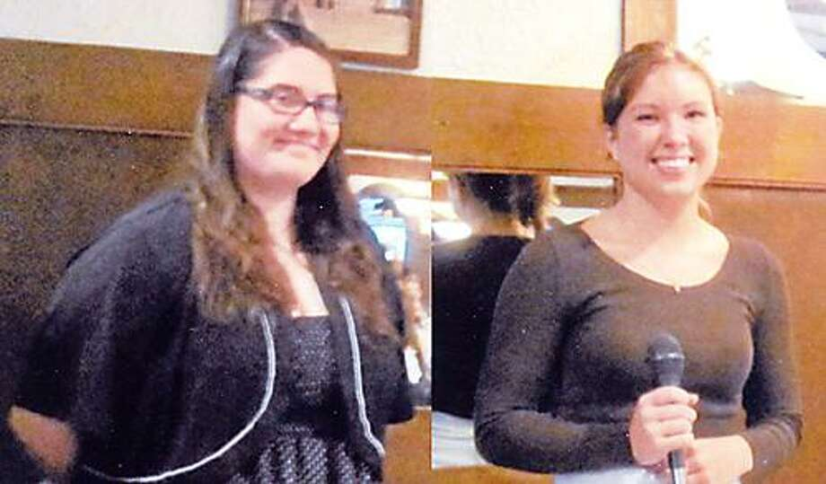 Photo Courtesy ONEIDA ZONTA CLUB Brianne Buda of Canastota received the Jean M. Coon Award and Annaliese Clements of Oneida recently received the Young Women in Public Affairs Award from the Oneida Zonta Club.