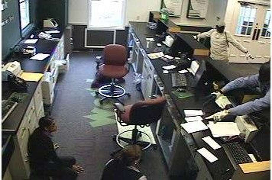 Surveillance photo of the robbery.