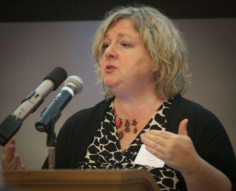 Ann Orloff, Keynote Speaker at Yale symposium.    Melanie Stengel/Register