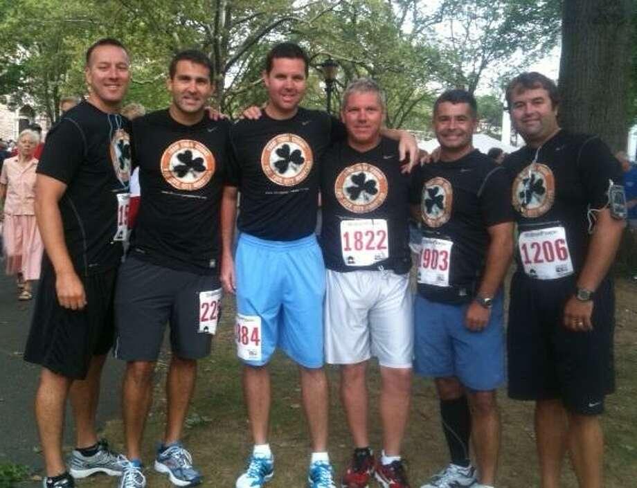 From left: Scott Chapman, Chris Spaziano, Michael Corgan, John Gaudet, Erik Savage and Michael Farrell